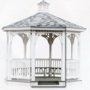 Our step in gazebo serves three purposes:
