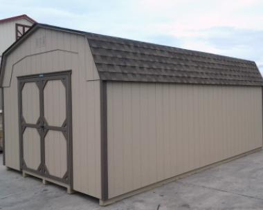 Clay and Brown 12x20 Highwall Barn at the Hegins (Spring Glen), PA Pine Creek Structures store