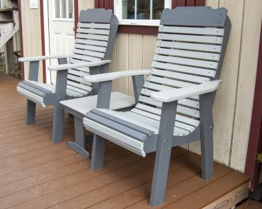 Outdoor Patio Furniture: Poly Contoured Chairs & Small End Table